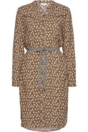 Saint Tropez Kvinna Midiklänningar - Fleursz Dress Knälång Klänning Beige