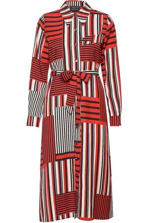 SELECTED Kvinna Midiklänningar - Slfmyla-Florenta Ls Aop Midi Dress B Knälång Klänning Röd