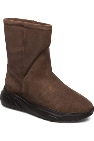 Gram Kvinna Ankelboots - 558g Boot Walnut Suede Shoes Boots Ankle Boots Ankle Boot - Flat