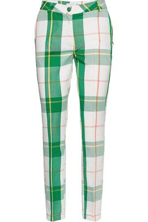 Coster Copenhagen Kvinna Slim - Pants W. Press Fold- Lucia Fit Slimfit Byxor Stuprörsbyxor Grön