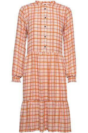 Modstrom Bolette Print Dress Knälång Klänning Orange