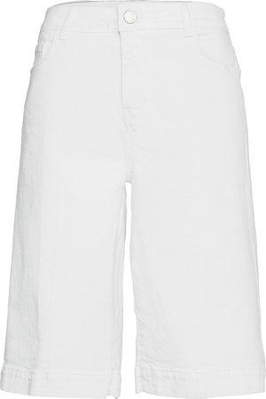 Mos Mosh Kvinna Bermudashorts - Zoe White Skirt Short Bermudashorts Shorts