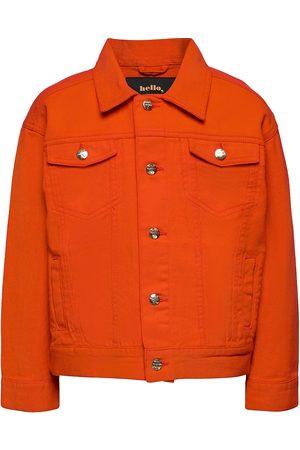 Mini Rodini Barn Jeansjackor - Denim Twill Teddybear Jacket Outerwear Jackets & Coats Denim & Corduroy Orange