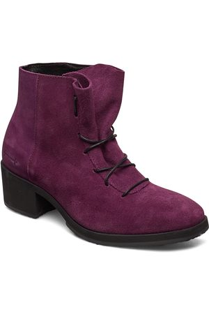 Gram Yatfai Boot Purple Suede Shoes Boots Ankle Boots Ankle Boot - Heel