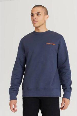 WoodWood Man Sweatshirts - Sweatshirt Hugh Logo Sweatshirt Blå