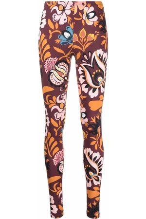 La DoubleJ Kvinna Leggings - Blommiga leggings