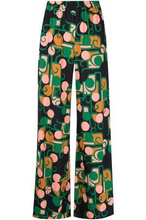 La DoubleJ Kvinna Byxor - Graphic-print palazzo pants