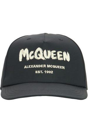 Alexander McQueen Man Kepsar - Graffiti Logo Nylon Baseball Cap