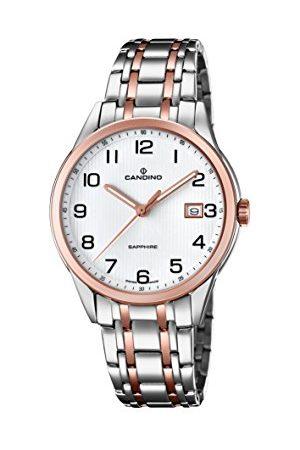 Candino Herr datum klassisk kvartsklocka med rostfritt stål armband C4616/1