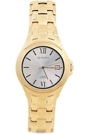 Shaon Herr analog kvartsklocka med rostfritt stål armband 35–9603–82