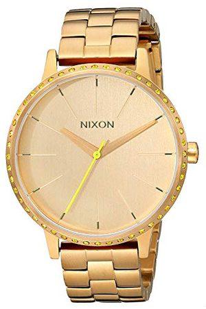 Nixon Herr Kensington neon gul kvartsklocka med urtavla analog display och rostfritt stål armband A0991900-00