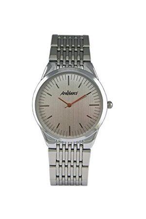 Arabians Herr analog kvartsklocka med rostfritt stål DAP2193S