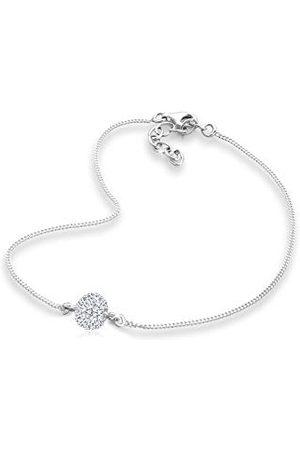 Elli Kvinna Halsband - Kvinnor silver kristall vristlänk med längd 25 cm 0706560612_25