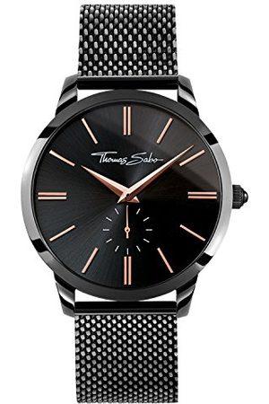 Thomas Sabo Man Klockor - Mäns armbandsur analog kvarts rostfritt stål WA0271-202-203-42 mm