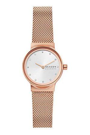 Skagen Analog kvartsklocka för kvinnor med rem i rostfritt stål Armband White Ros/ros