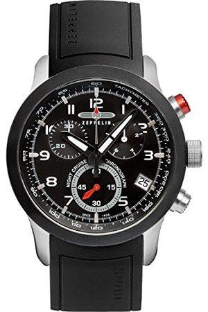 Zeppelin Mäns kronograf kvarts klocka med gummi armband 72922