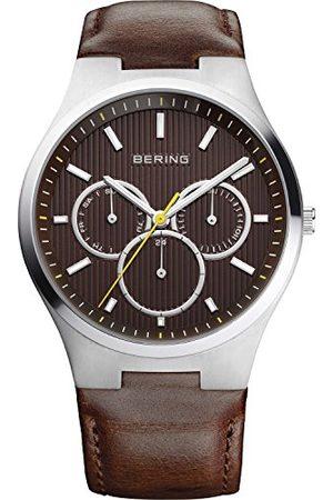 Bering Herrarmbandsur analog kvarts läder 13841-505