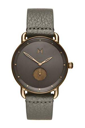 MVMT Herr analog kvartsklocka med läderrem D-MR01-BROGR