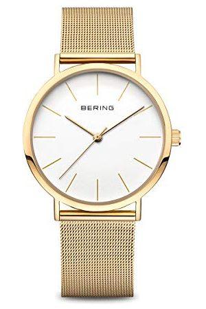 Bering Dam analog kvartsklocka med rostfritt stålrem 13436-334