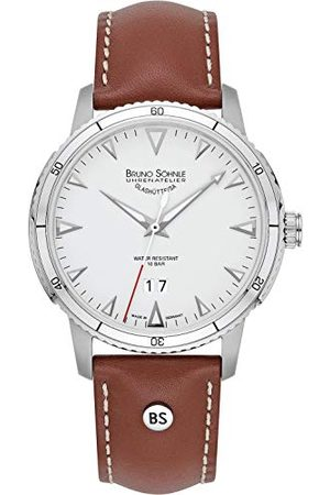Soehnle Man Klockor - Bruno Söhnle herr analog kvarts klocka med läderarmband 17-13207-241