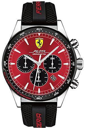 Scuderia Ferrari Herr kronograf kvartsklocka med silikonrem 0830595