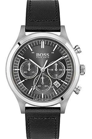 HUGO BOSS Kvartsklocka med läderarmband 1513799