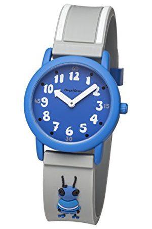 DUZZIDOO Unisex barn analog kvartsklocka med plastarmband TAK001