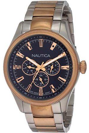 Nautica Herr analog kvartsklocka med rostfritt stålrem NAPSTB005