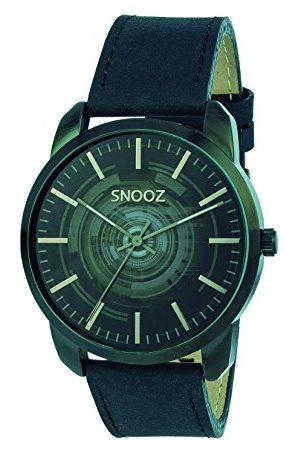 Snooz Herr analog kvartsklocka med läderrem Saa1044-62