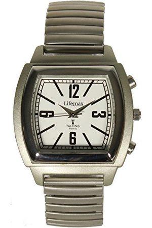 Lifemax Vintage pratande atomic unisex kvartsur med urtavla analog display och rostfritt stål armband 1439E