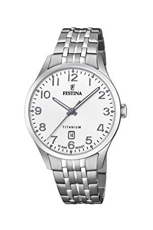 Festina Herr analog kvartsklocka med titan armband F20466/1