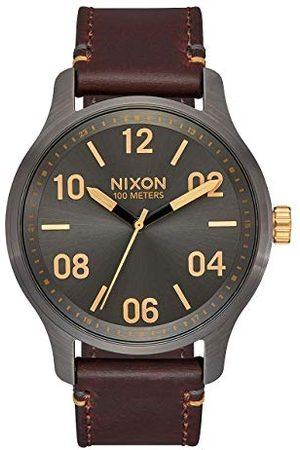 Nixon Man Armband - Herr analog japansk kvartsklocka med äkta läderarmband A1243-595-00