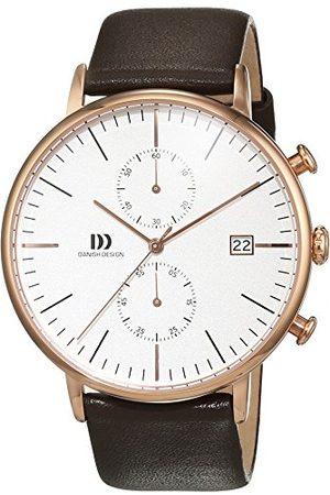 Danish Design Dansk design herr kronograf kvartsur med läderrem IQ17Q975