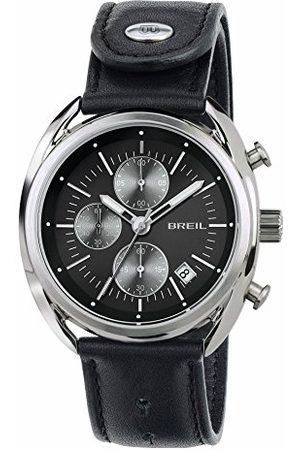 Breil Man Klockor - Herr kronograf kvartsur med läderarmband TW1527