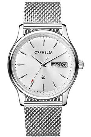 ORPHELIA Herrarmbandsur Milanos analog med nät rostfritt stål armband bälte