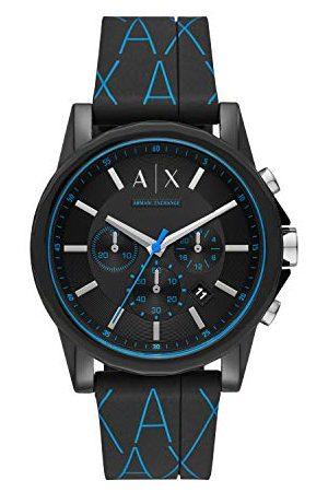 Armani Herr kronograf kvartsklocka med silikonrem AX1342