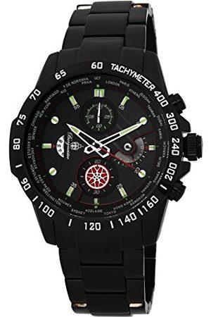 Burgmeister Kvartsklocka för män med urtavla kronograf display och rostfritt stålpläterat armband BMS01-622