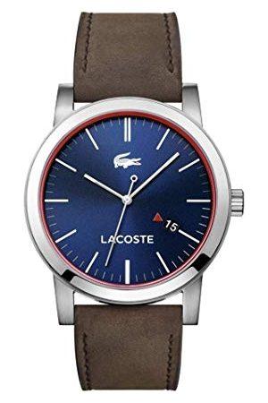 Lacoste Kvartsklocka för män, analog klassisk display och läderrem 2010848