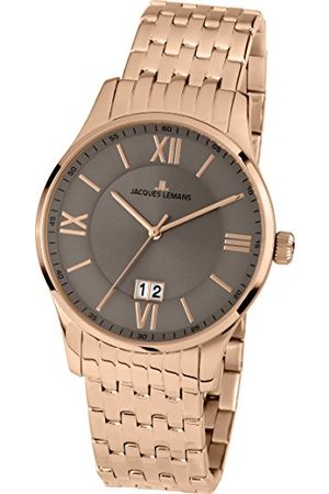 Jacques Lemans Man Klockor - Herr analog kvarts smart klocka armbandsur med rostfritt stål belagt armband 1–1845M