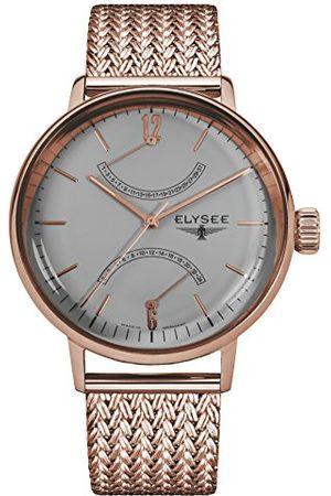 ELYSEE Unisex vuxna analog kvartsklocka med rostfritt stål armband 13290 M