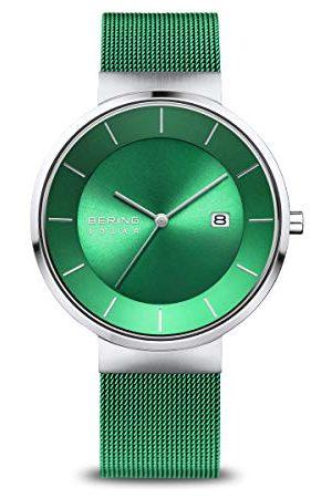 Bering Herr analog solklocka med rostfritt stål armband 14639-Charity