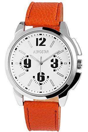 Aerostar Herr analog kvartsklocka med läderarmband 21102250006