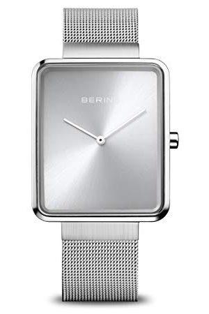 Bering Unisex armbandsur analog kvartsklocka med rostfritt stål armband armband 33 mm Silber/Silber