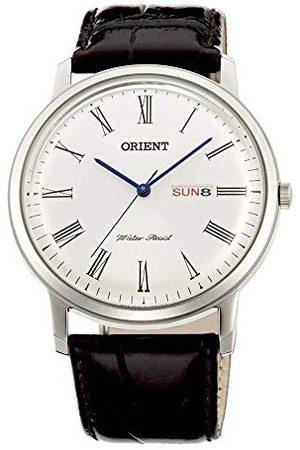 Orient Herr analog kvartsklocka med läderrem FUG1R009W6