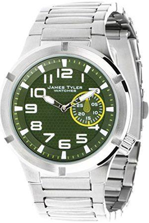 James Tyler Herrarmbandsur, kvartsverk, borstat rostfritt stål, JT703-1
