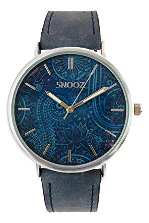 Snooz Herr analog kvartsklocka med läderrem Saa1041-71