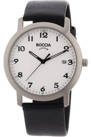 Boccia Man Klockor - Herrarmbandsur läder 3618-01