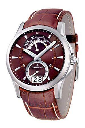 Candino Herr analog kvartsklocka med läderrem C4387-3
