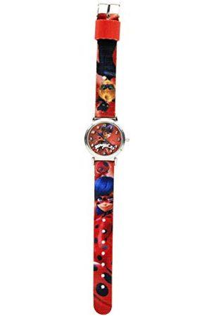 JOY TOY Unisex – barn analog kvartsklocka med tyg armband 17062