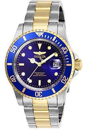 Invicta Mäns Pro Diver kvarts klocka med rostfritt stål armband armband No Size Tvåfärgad/blå